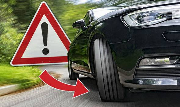 car tyres turning into corner