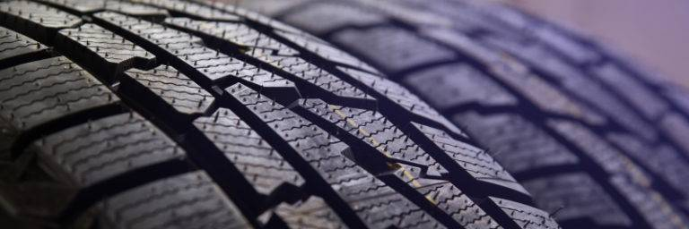 Close up of a tyre